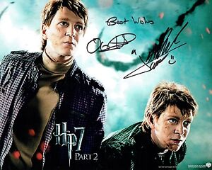 Details about James & Oliver PHELPS Signed 10 x 8 Photo 1 AFTAL COA Harry  Potter Weasley Twins