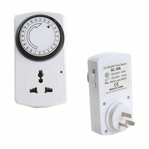 TIMER ANALOG LIGHT TIMING 10A INDUSTRIAL HYDROPONICS FOR GROW TENT 15 MIN