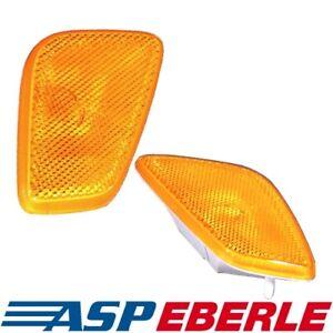 2-Blinker-Blinkleuchten-gelb-in-Verbreiterung-Jeep-Wrangler-TJ-Bj-96-06