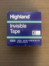 Highland 6200 Invisible Tape 075 Inch X 36 Yards Matte
