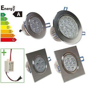 Led spot ampoule lampe encastrable encastr e plafond 3w 5w 7w 9w 12w 15w 18w 24w ebay - Lampe encastrable plafond ...