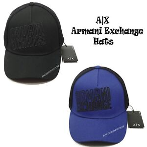 3e82245f8b528f ARMANI EXCHANGE NEW MEN'S LOGO CAP/HAT ADJUSTABLE LEATHER STRAP BACK ...