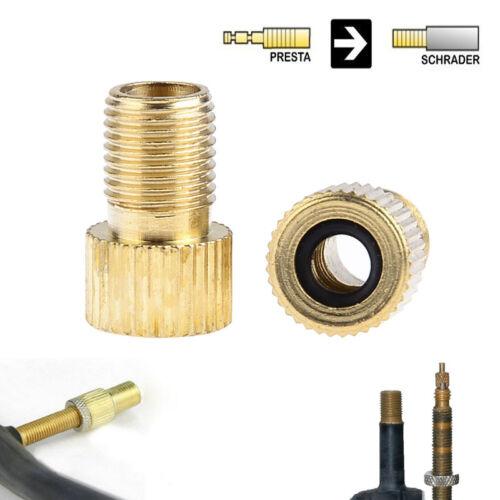 5x Brass Adaptor Presta To Schrader Bicycle Valve Converter Bike Pump Adapter BR