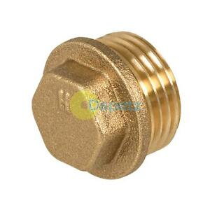 Flanged-Blanking-Plug-1-2-034-BSP-blanking-Cap-Brass-19mm-Male-Thread
