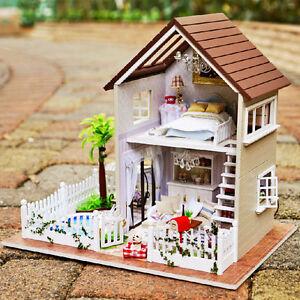 3d Miniature Paris Apartment Diy Doll House Pool Kit Music Box Voice Control Lig Ebay