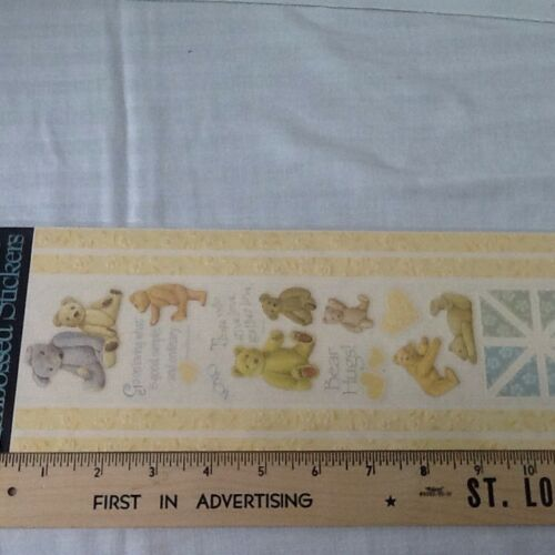 Bears Hearts Embossed SCRAPBOOKING Stickers Borders Corners by K /&Company