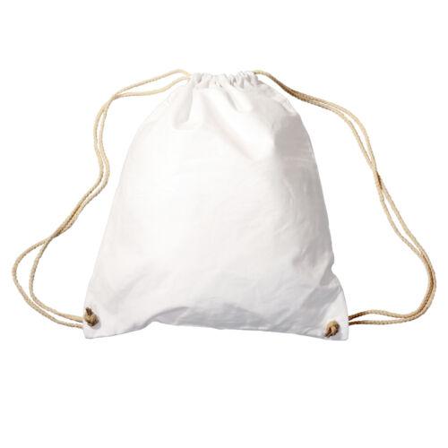 Trend-Bag Turnbeutel Sportbeutel Rucksack ohne Aufdruck 65000 weiß