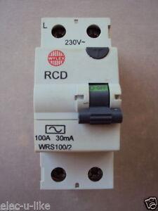 Details about WYLEX WRS100/2 100A 30mA RCD EN 61008 DP 100 AMP TRIP RCB RCCB