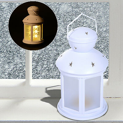 Holiday Living Metal Battery Operated Black Lantern Star Shaped LEDS Night Lamp