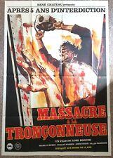 THE TEXAS CHAINSAW MASSACRE ORIGINAL FRENCH POSTER HUGE HOOPER  STUNNING ARTWORK