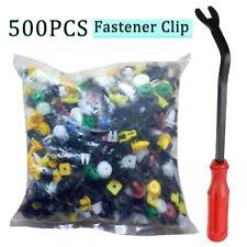 500 Clips Car Body Plastic Push Pin Rivet Trim Moulding Fastener Screwdriver Kit Fits Saab