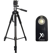 "XIT 72"" Tripod + Wireless Remote for Nikon D3300 D3100 D5300 D5500 D7200 SLR"