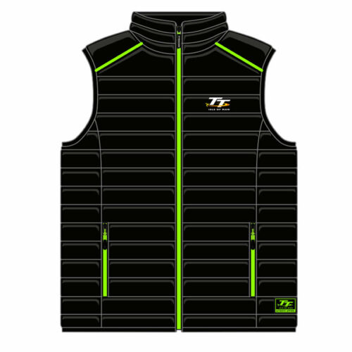 Official Isle of Man TT Races Ribbed Kid/'s Body Warmer KBW1