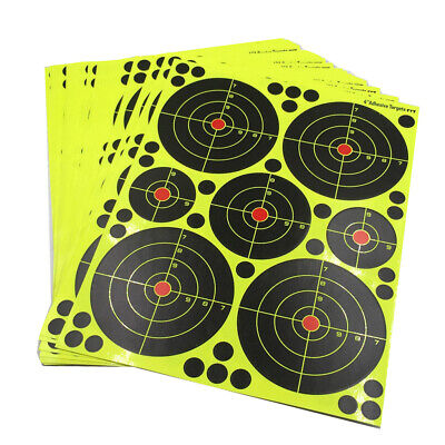 10 Sets//70Pcs Shooting Practice Splash Color Fluorescent Paper Aim Targets