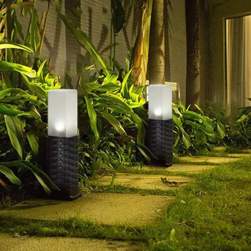 SOLAR LANDSCHAFT PATHWAY LIGHTS Outdoor Gard Hof Beleuchtung Rattan Rasen