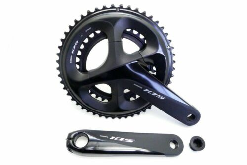 Black Without BB Shimano 105 FC-R7000 2x11 Speed 50//34T 160mm Crankset