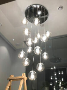 Clear Glass Globe Chandelier Living, Replacement Light Globes Chandeliers