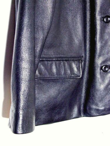 Adler Xl Lamb Af Black Button Nz Jacket Sz Vtg Leather Alegre nvxY16q6