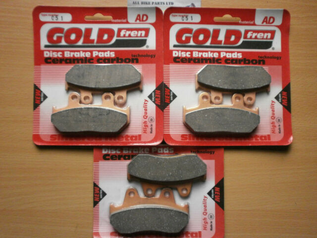GOLDFREN FULL SET OF BRAKE PADS For: HONDA CBR 1000 (1987-1988) CBR1000