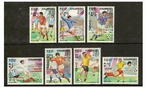 Kampuchea - 1985 World Cup Football Set-neuf Sans Charnière-sg 590/6-afficher Le Titre D'origine