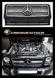 1989-2013-Mercedes-W463-G-Class-BLACK-CHROME-Grill-2013-AMG-Style-G55-G63-G320