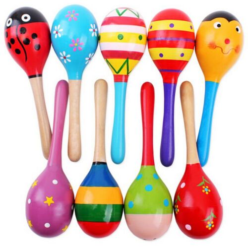 Cute Baby Kids Sound Music Gift Toddler Rattle Musical Wooden Colorful Toys LF