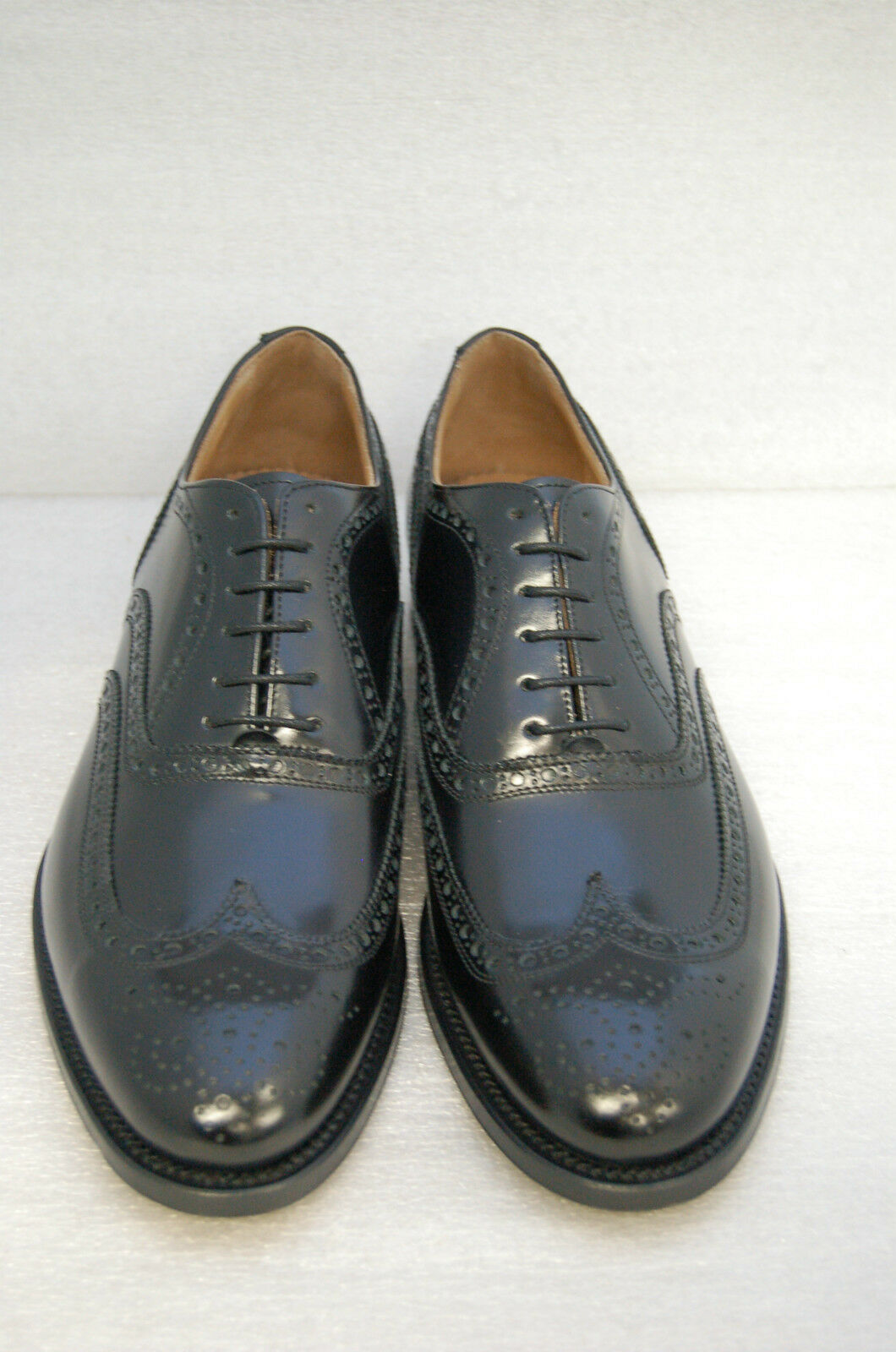 MAN -44- OXFORD WINGTIP 10- 10- 10- nero CALF W  PERFS AND MEDALLION - LEATHER SOLE | Molti stili  | Maschio/Ragazze Scarpa  073488