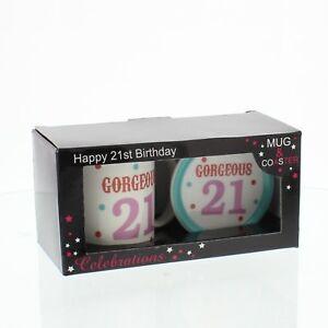 Image Is Loading Gorgeous 21 Spotty Ceramic Mug And Coaster Set