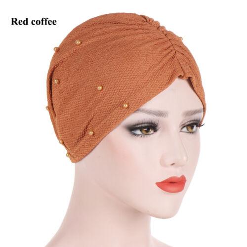 Women/'s Chemo Cap Hair Loss Head Scarf Muslim Stretch Turban Hat Wrap Hijab Cap