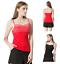 Womens-Adjustable-Spaghetti-Strap-Basic-Tank-Top-Ladies-Lace-Trim-Comi-Tee-Shirt thumbnail 1