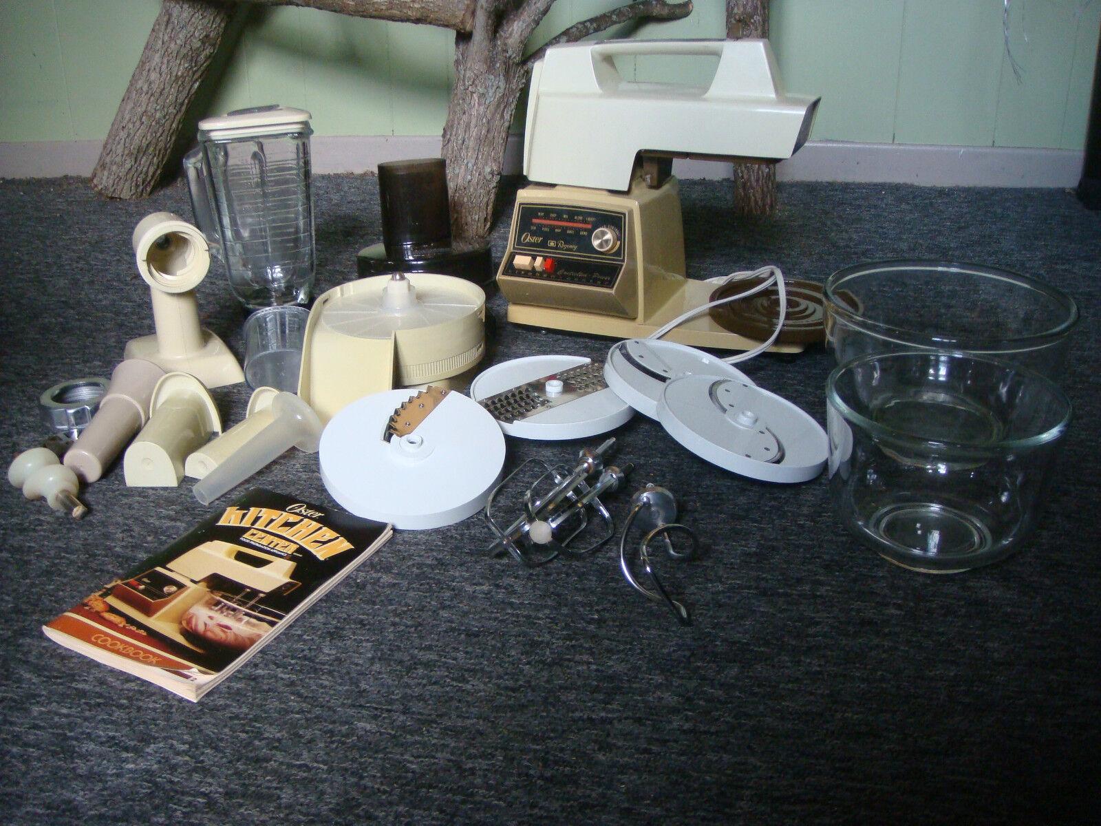 Vintage Oster Regency Kitchen Center 10-Speed Mixer Blender Food Processor