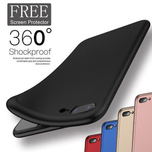 buy popular 968e4 9bd74 Details about New Ultra Thin Slim Soft Rubber Silicone Case Cover for  iPhone 6 6S 7 Plus 8/X10