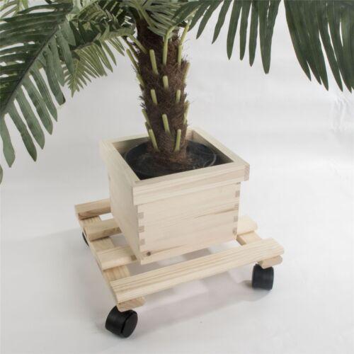 VASO QUADRATO IN LEGNO Mover FIORIERA Trolley Indoor Fiore SUPPORTO Caddy//PINO non verniciata