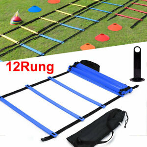 Speed-Agility-Train-Kit-19Ft-Flat-Ladder-10pcs-Disc-Cones-for-Athletic-Training
