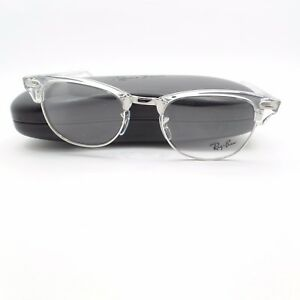 3765bcee846 Image is loading Ray-Ban-Clubmaster-5154-2001-White-Transparent-Silver-