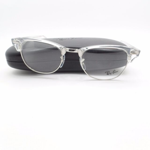 0231decc98d41 Ray Ban Clubmaster 5154 2001 White Transparent Silver Frame New Authentic