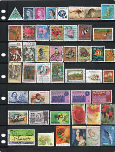 Australian stamp collection. 47 stamps.Free postage Australia. A4
