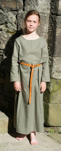 Medieval-LARP-Re enactment-SCA-Viking-Dark Age CHILD/'S KIRTLE Sage Green