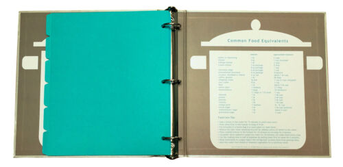 Create Your Own Collected Recipes Cookbook Turquoise /& Gray