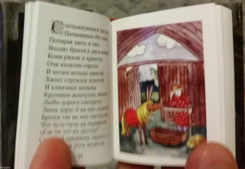 """Moderne russische Mini 3/"""" Buch Yershov Kleine Bucklige Pferd Märchen Miniatur"""