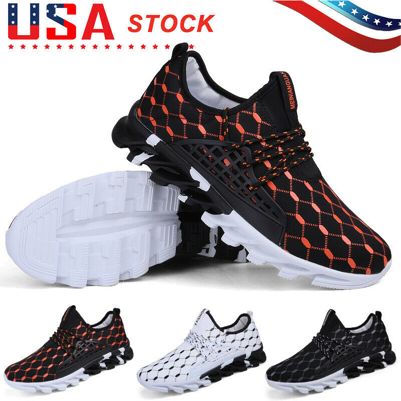 Men's Casual Sneakers Athletic Non-slip Walking Sports Tennis Running Gym Shoes