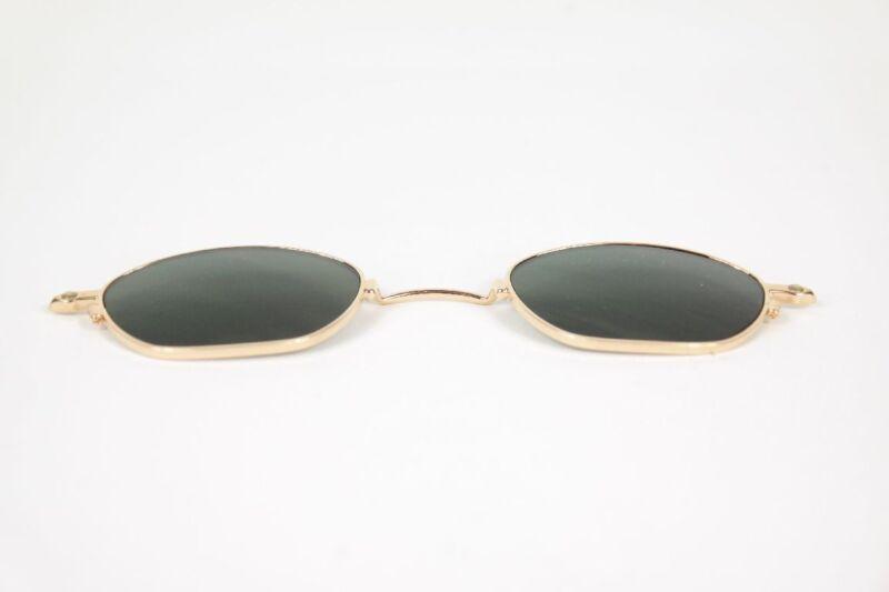 Lafont Sonnenclip 42[] Gold Oval Sonnenbrille Sunglasses Neu