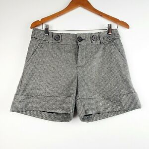 Banana-Republic-Women-039-s-Martin-Fit-Wool-Stretch-Houndstooth-Shorts-Size-4-EUC