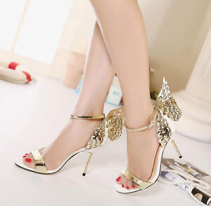 New-Womens-Stiletto-High-Heels-Butterfly-Ankle-Strap-Sandals-Party-Wedding-Shoes