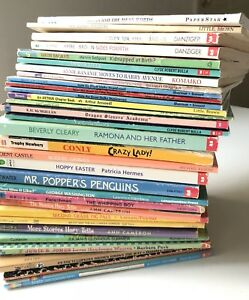 Mixed-Lot-of-28-Children-s-Chapter-Books-vintage-1980s-1990s-Scholastic-more