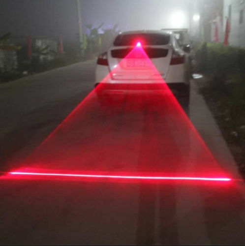 Popular Car Tail Fog Light Rear Anti-Collision Safety Signal Warning Lamp 12V sc