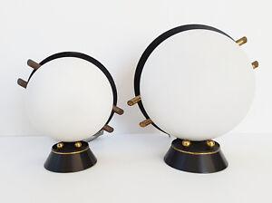 Vintage Paire De 1950 Sur Arlus Maison 50s Annees 50 Acier Laiton Verre Détails 50's Lampes k0wXO8nP