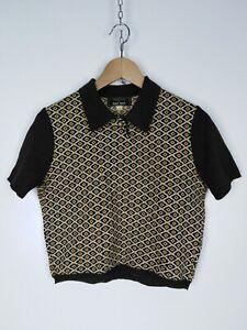 NAF-NAF-Maglia-Maniche-Corte-in-LANA-Polo-Shirt-Maglia-Tg-M-Donna-Woman