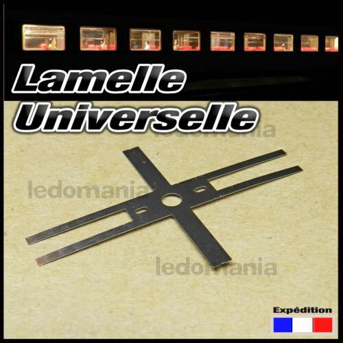 6002# 10 à 100pcs Lamelle universelle contact éclairage LED voiture voyageur HO