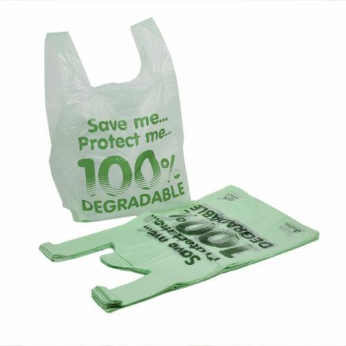 "1000 X Large Biodegradable bolsas de 11 X 17 X 21/"" Tienda Plástico Eco Friendly"